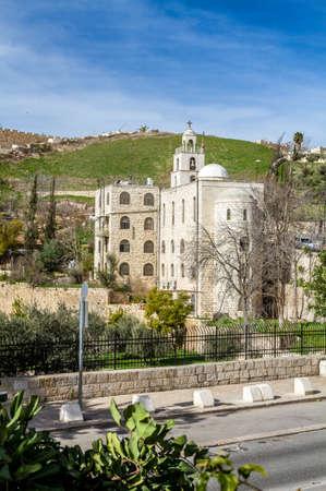 pilgrim journey: JERUSALEM, ISRAEL - APRIL 4: The Greek Orthodox Church of St. Stephen near the Church of All Nations in Jerusalem, Israel on April 4, 2015 Editorial