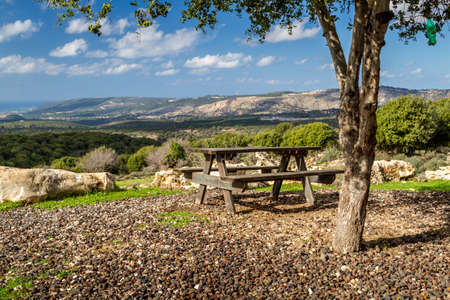 israel: View of the mountainous area of the Upper Galilee  from the lookout, Israel