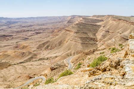 negev: Landscape Makhtesh Gadol or Large Crater in Negev desert in the early spring, Israel