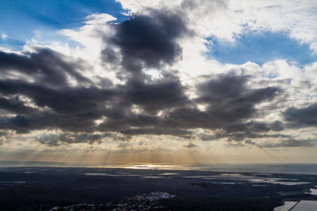 galilee: Mediterranean landscape, the sunset over the Upper Galilee, Israel