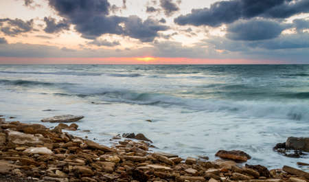 seascape: Seascape, sunset over the Mediterranean Sea, Israel