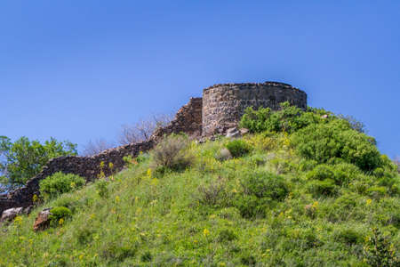 siege: Archaeological site of ancient Jewish city of Gamla on the hill in Israel
