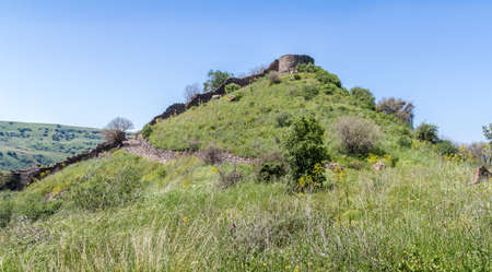 archaeological site: Archaeological site of ancient Jewish city of Gamla on the hill in Israel