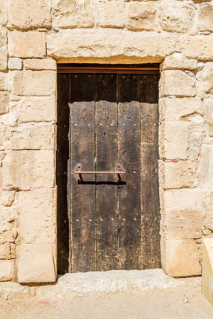 nabatean: The old wooden door in the ancient nabatean town Shivta in the Negev desert, Israel