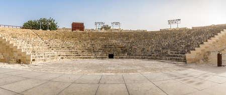 teatro antiguo: teatro romano antiguo, kourion parque arqueol�gico en Chipre