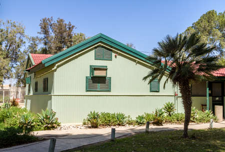 kibbutz: SDE BOKER, ISRAEL - MARCH 18: House of David Ben-Gurion in Kibbutz Sde Boker, Israel on March 18, 2016