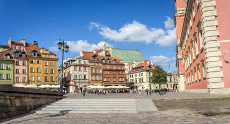 WARSAW, POLAND - SEPTEMBER 27: Castle Square in Old Town of Warsaw, Poland on September 27, 2016 Editorial