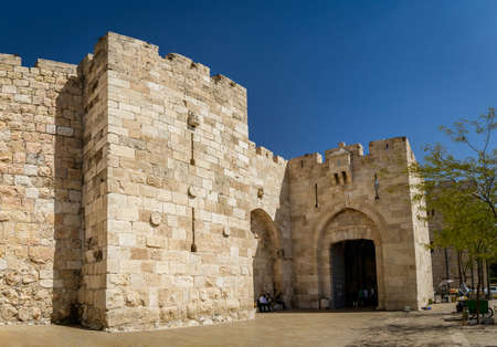 JERUSALEM, ISRAEL - OCTOBER 5: Jaffa Gate of the Old City of Jerusalem, Israel on October 5, 2016