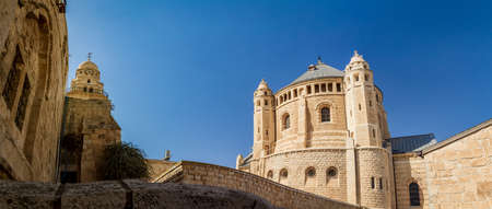 institute is holy: JERUSALEM, ISRAEL - OCTOBER 5: Exterior view of Dormition Abbey in Jerusalem, Israel on October 5, 2016 Editorial