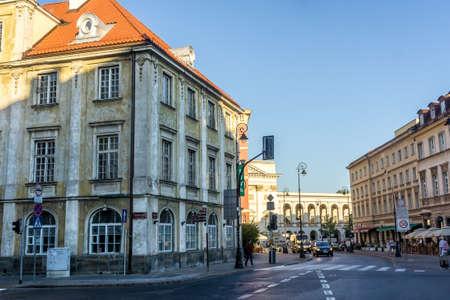 stare miasto: WARSAW, POLAND - SEPTEMBER 14: The historic center of Warsaw near the Castle Square and St. Annes Church in Warsaw, Poland on September 14, 2016 Editorial