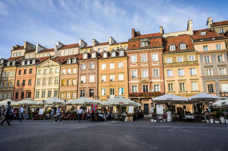 WARSAW, POLAND - SEPTEMBER 17: The Old Town Market Square in Historic Centre of Warsaw, Poland on September 17, 2016 Editorial