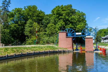 Mechanical equipment for transporting boats, the boat lift in the Elblag Canal, Poland