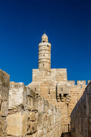 The Tower of David, near the Jaffa Gate in Old City of Jerusalem, Israel