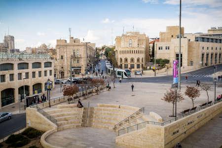 suleyman: JERUSALEM, ISRAEL - DECEMBER 8: View of Jerusalem from wall of the Old City in Jerusalem, Israel on December 8, 2016 Editorial