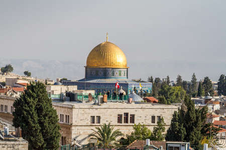 Dome of the the rock in Old City of Jerusalem