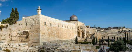 Al-Aqsa Mosque in Old City of Jerusalem Stock Photo