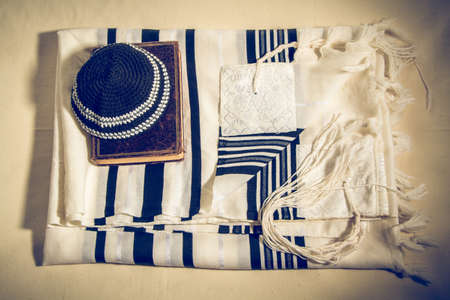 Talit, Kippah and Siddur - Jewish ritual objects