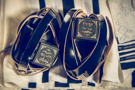 sephardi: Talit and Tefillin, jewish ritual objects