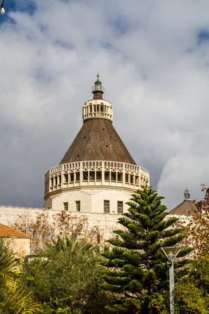 Dome of the Basilica of the Annunciation or Church of the Annunciation in Nazareth, Israel