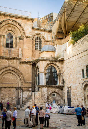 JERUSALEM, ISRAEL - OCTOBER 3: The Church of the Holy Sepulchre, the Chapel of the Franks in the Old City of Jerusalem, Israel on October 3, 2016