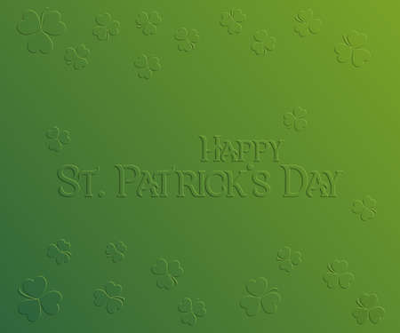 herbaceous: St. Patrick Day holiday card, Happy St. Patricks Day. Greeting card with inscription and trifoliate clover on green background, festive vector illustration.
