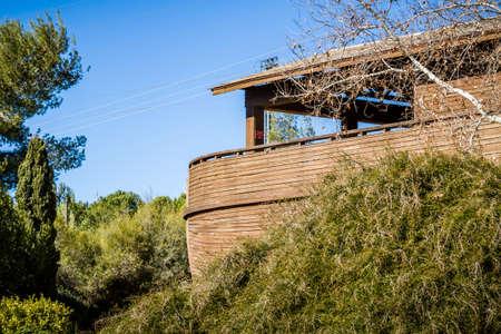 El Arca de Noé en el zoológico bíblico de Jerusalén, Israel Editorial
