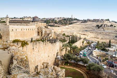 The Al-Aqsa Mosque in Old City of Jerusalem, Israel Editorial