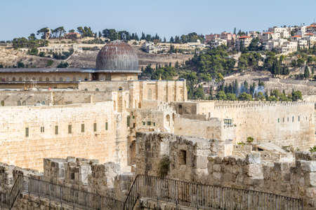 JERUSALEM, ISRAEL - DECEMBER 8: The Al-Aqsa Mosque on the Temple Mount in Old City of Jerusalem, Israel on December 8, 2016