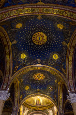 Interior of the Church of All Nations in Jerusalem, Israel