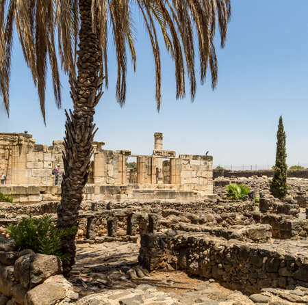 archaeological: Archaeological site Capernaum, Sea of Galilee in Israel