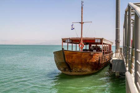 Wooden boat, Sea of Galilee in Israel