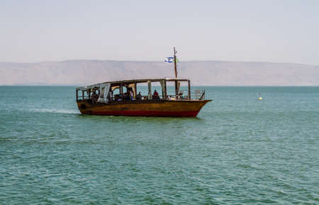 Wooden boat, Sea of Galilee in Israel