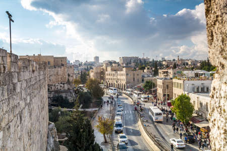 View of Jerusalem from the Old City Wall, Israel