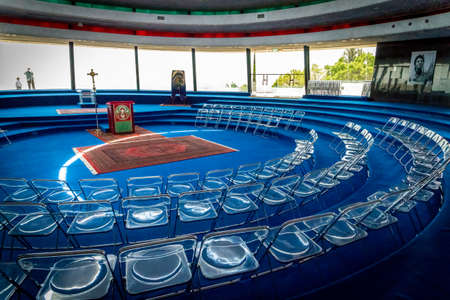GALILEE, ISRAEL - JUNE 24: The Interior of the Auditorium in Domus Galilaeae on the Mount of Beatitudes near the Sea of Galilee, Israel on June 24, 2017 Editorial