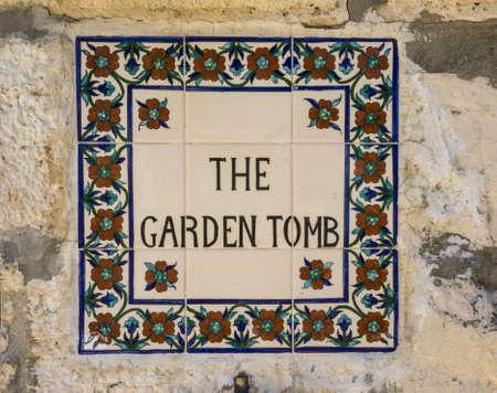 Het Tuingraf buiten de muren van de Oude Stad van Jeruzalem, dichtbij de Poort van Damascus, Israël