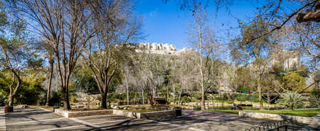 JERUSALEM, ISRAEL - JANUARY 23: Panorama of the Biblical Zoo in Jerusalem, Israel on January 23, 2017