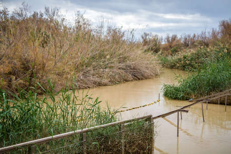 john the baptist: Qasr el Yahud, baptism site, Jordan River in Israel Stock Photo