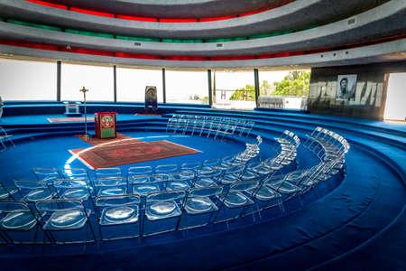 The interior of the Auditorium in Domus Galilaeae, Israel Editorial