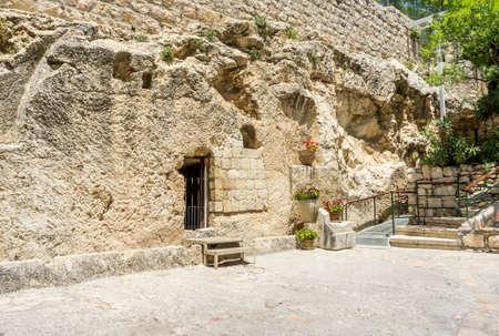 The Garden Tomb in Jerusalem, Israel Archivio Fotografico