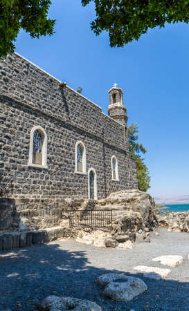 The Church of the Primacy of Saint Peter, Franciscan church on the shore of the Sea of Galilee in Tabgha, Israel