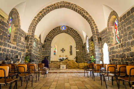 The Church of the Primacy of Saint Peter in Tabgha, Israel