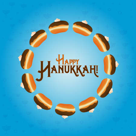 Holiday of Hanukkah greeting card