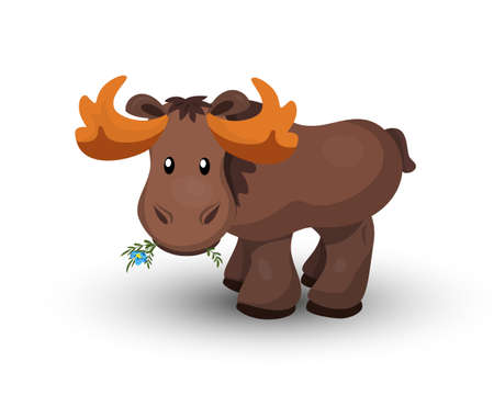 Vector illustration of moose