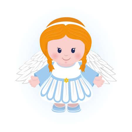 Fun cartoon character of angel illustration.