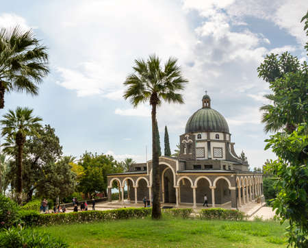 The Church Of The Beatitudes where Jesus preached the Sermon on the Mount.