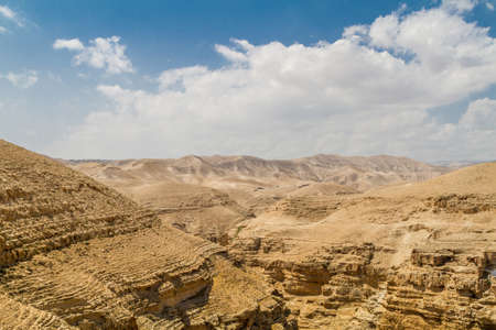 Canyon near the monastery of Saint George of Choziba in Judaean Desert in the Holy Land, Israel