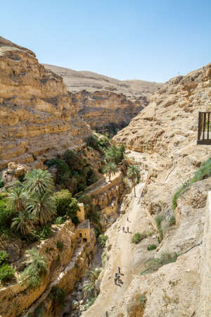 The monastery of Saint George of Choziba in Judaean Desert near Jericho in the Holy Land, Israel