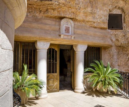 The Greek Orthodox monastery of Saint George of Choziba in Judaean Desert near Jericho in the Holy Land, Israel