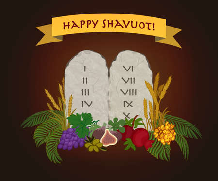 Jewish holiday of Shavuot, tablets of stone and Seven species of the Holy Land