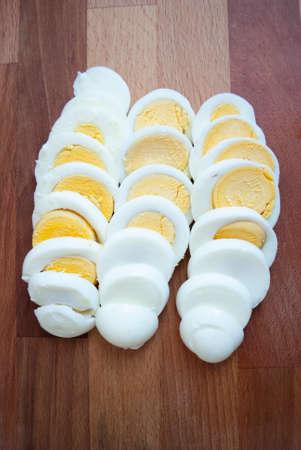 hard boiled: Hard boiled eggs sliced